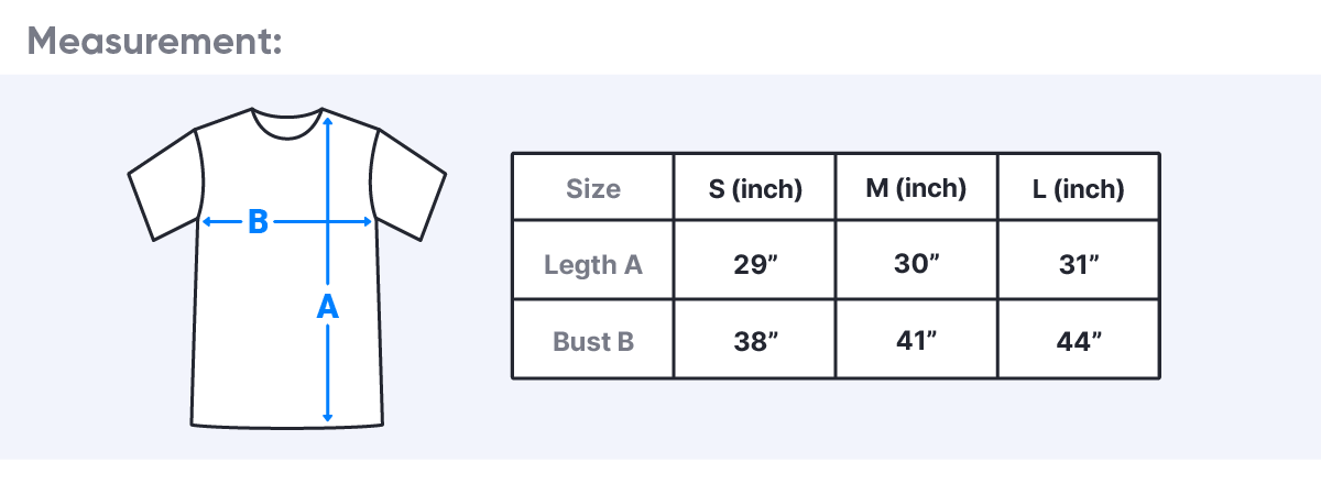 Classic T-Shirt size guide