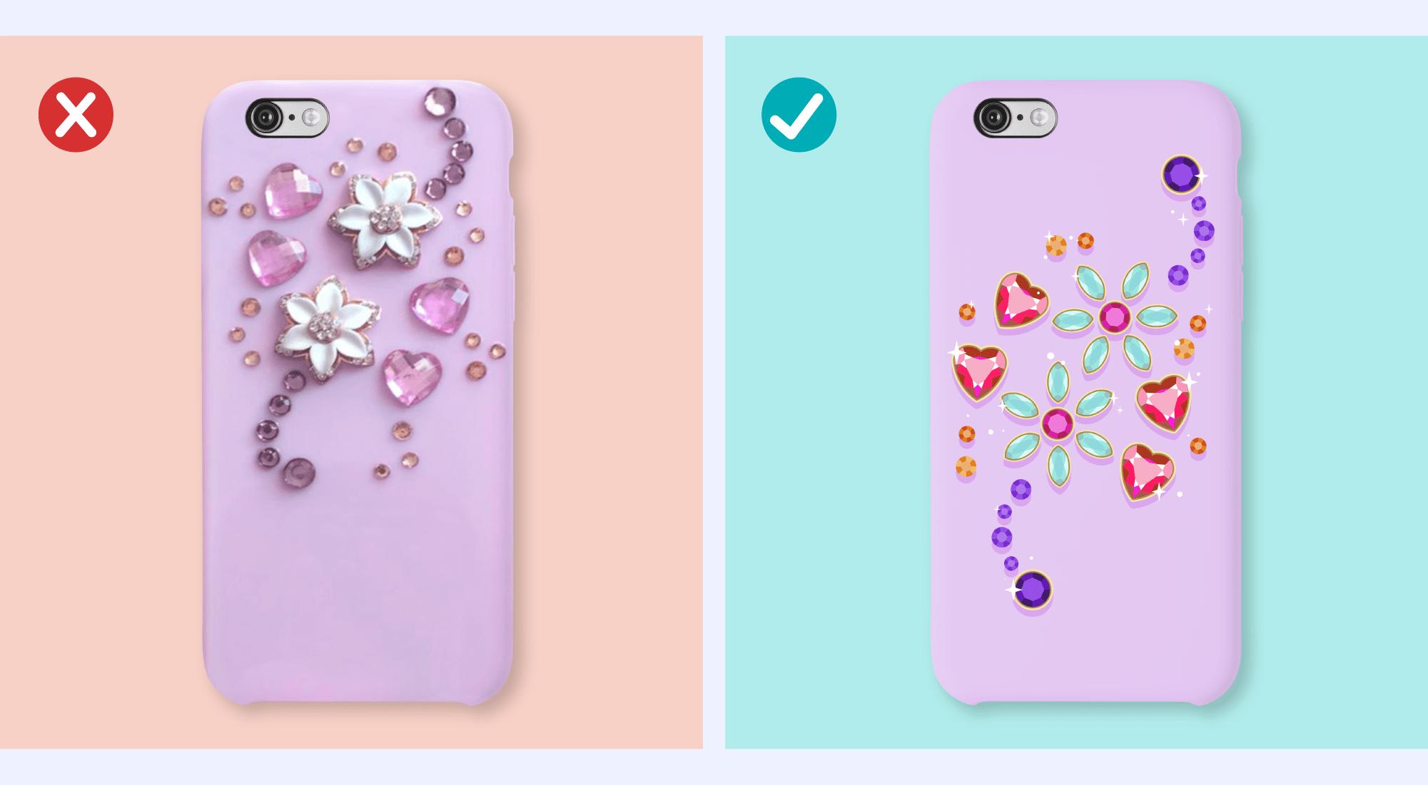 Crystal-like designs