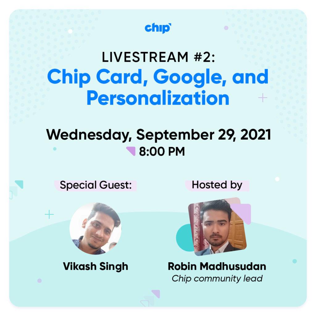India Chip Livestream #2 invitation